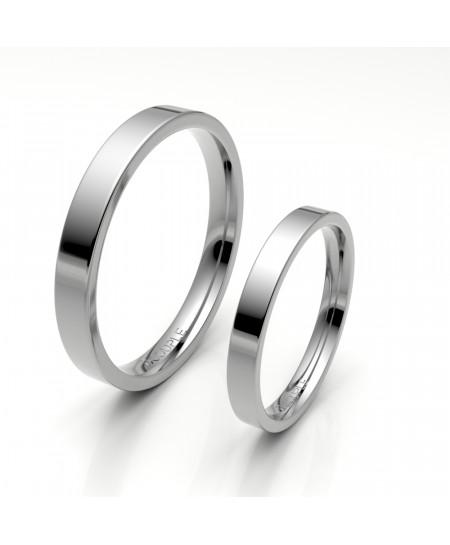 Alianza clasica platino almendrada 2.80 mm de ancho interior confort