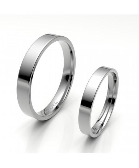 Alianza clasica platino almendrada 3.30 mm de ancho interior confort