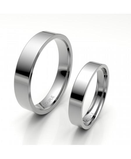 Alinaza clasica platino plana 4.00 mm de ancho reforzada interior confort
