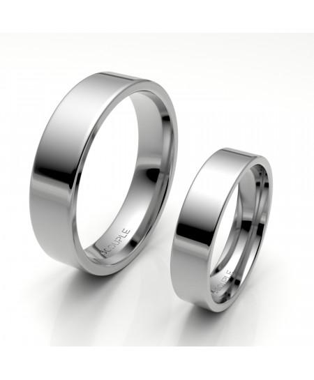Alianza clasica platino almendrada 5.00 mm de ancho interior confort