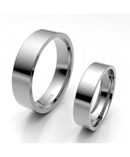 Alinaza clasica platino plana 5.00 mm de ancho interior confort